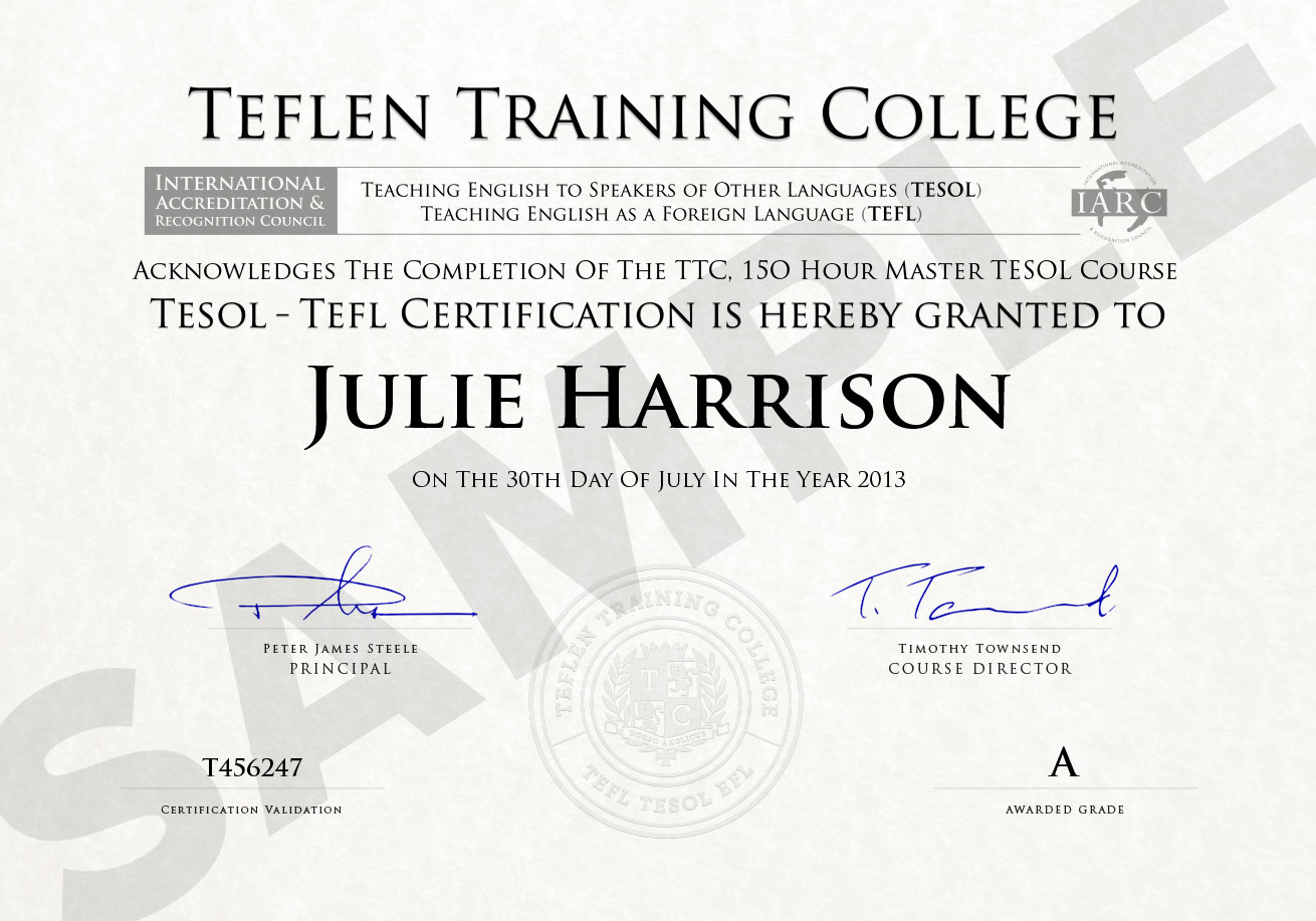 Esl certification online programs tefl and tesol certification australia esl certification 1betcityfo Choice Image